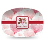 Hearts & Bunnies Plastic Platter - Microwave & Oven Safe Composite Polymer (Personalized)