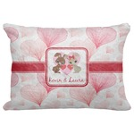 """Hearts & Bunnies Decorative Baby Pillowcase - 16""""x12"""" (Personalized)"""