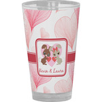 Hearts & Bunnies Drinking / Pint Glass (Personalized)