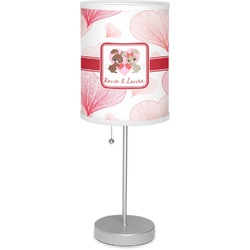 """Hearts & Bunnies 7"""" Drum Lamp with Shade Linen (Personalized)"""
