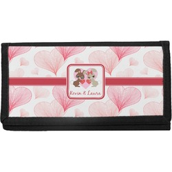 Hearts & Bunnies Canvas Checkbook Cover (Personalized)