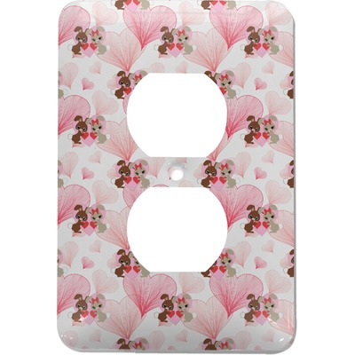 Hearts & Bunnies Electric Outlet Plate (Personalized)