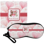 Hearts & Bunnies Eyeglass Case & Cloth (Personalized)