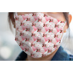 Hearts & Bunnies Face Mask Cover (Personalized)
