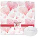Hearts & Bunnies Washcloth (Personalized)