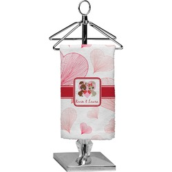 Hearts & Bunnies Finger Tip Towel - Full Print (Personalized)