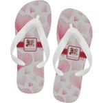 Hearts & Bunnies Flip Flops (Personalized)