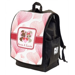 Hearts & Bunnies Backpack w/ Front Flap  (Personalized)