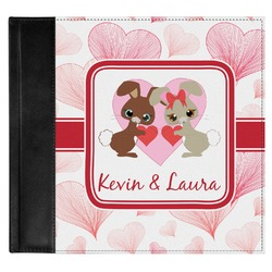 Hearts & Bunnies Genuine Leather Baby Memory Book (Personalized)