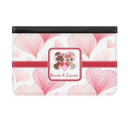 Hearts & Bunnies Genuine Leather ID & Card Wallet - Slim Style (Personalized)