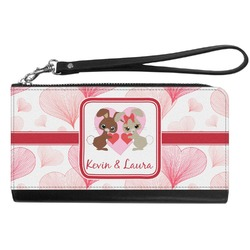 Hearts & Bunnies Genuine Leather Smartphone Wrist Wallet (Personalized)