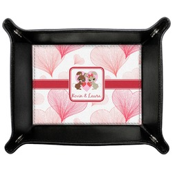 Hearts & Bunnies Genuine Leather Valet Tray (Personalized)