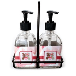 Hearts & Bunnies Soap/Lotion Dispensers (Glass) (Personalized)