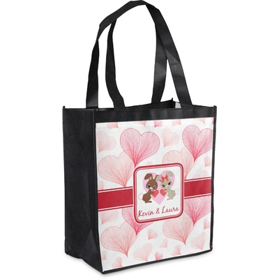 Hearts & Bunnies Grocery Bag (Personalized)