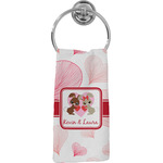 Hearts & Bunnies Hand Towel - Full Print (Personalized)