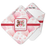 Hearts & Bunnies Hooded Baby Towel (Personalized)
