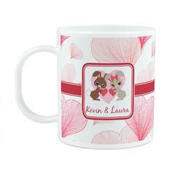 Hearts & Bunnies Plastic Kids Mug (Personalized)