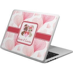 Hearts & Bunnies Laptop Skin - Custom Sized (Personalized)