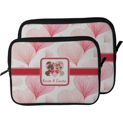 Hearts & Bunnies Laptop Sleeve / Case (Personalized)