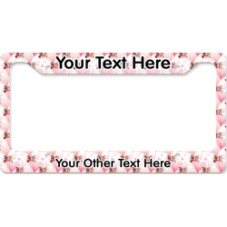 Hearts & Bunnies License Plate Frame (Personalized)