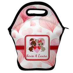 Hearts & Bunnies Lunch Bag w/ Couple's Names