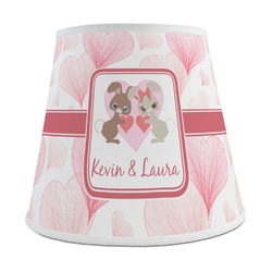 Hearts & Bunnies Empire Lamp Shade (Personalized)