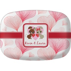 Hearts & Bunnies Melamine Platter (Personalized)
