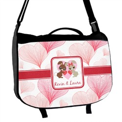 Hearts & Bunnies Messenger Bag (Personalized)