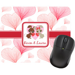 Hearts & Bunnies Mouse Pads (Personalized)