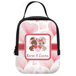 Hearts & Bunnies Neoprene Lunch Tote (Personalized)
