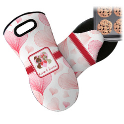 Hearts & Bunnies Neoprene Oven Mitt (Personalized)