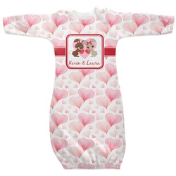 Hearts & Bunnies Newborn Gown (Personalized)