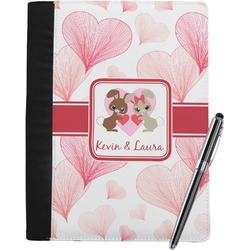 Hearts & Bunnies Notebook Padfolio (Personalized)