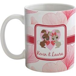 Hearts & Bunnies Coffee Mug (Personalized)