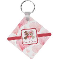 Hearts & Bunnies Diamond Key Chain (Personalized)