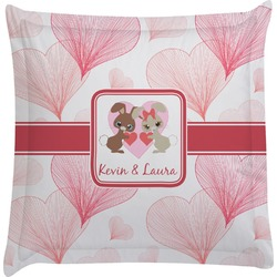 Hearts & Bunnies Euro Sham Pillow Case (Personalized)