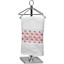 Hearts & Bunnies Cotton Finger Tip Towel (Personalized)
