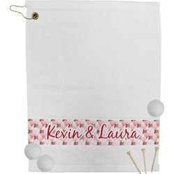 Hearts & Bunnies Golf Towel (Personalized)