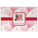 Hearts & Bunnies Laminated Placemat w/ Couple's Names