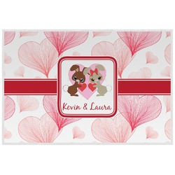 Hearts & Bunnies Placemat (Laminated) (Personalized)