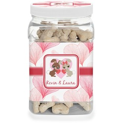 Hearts & Bunnies Pet Treat Jar (Personalized)