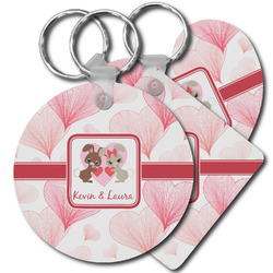 Hearts & Bunnies Plastic Keychains (Personalized)