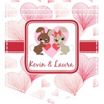 Hearts & Bunnies Iron On Faux Pocket (Personalized)