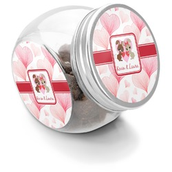 Hearts & Bunnies Puppy Treat Jar (Personalized)