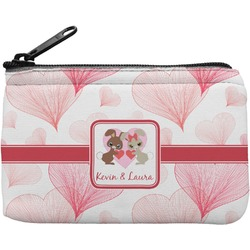 Hearts & Bunnies Rectangular Coin Purse (Personalized)