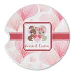 Hearts & Bunnies Sandstone Car Coasters (Personalized)