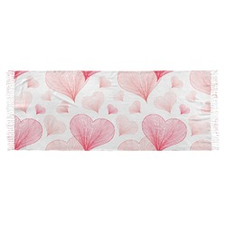 Hearts & Bunnies Faux Pashmina Scarf (Personalized)