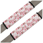Hearts & Bunnies Seat Belt Covers (Set of 2) (Personalized)