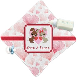 Hearts & Bunnies Security Blanket (Personalized)