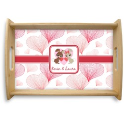 Hearts & Bunnies Natural Wooden Tray (Personalized)